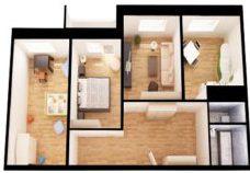 Стоимость натяжных потолков в трехкомнатной квартире в Краснодаре